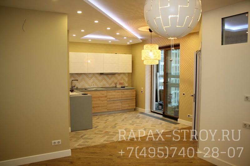 Фото ремонта двухкомнатной квартиры в новостройке 46 кв.м