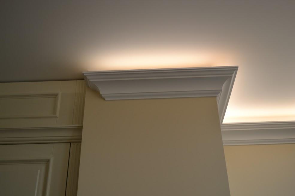 фото частичный ремонт квартир. потолочный карниз и свет